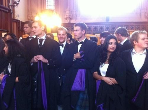 Rokas graduating!