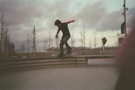 Loek skating in Barcelona in 2006