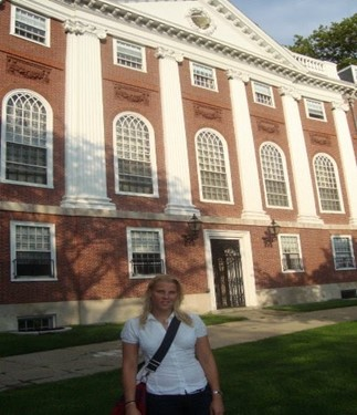 Charlotte during her time at Harvard University