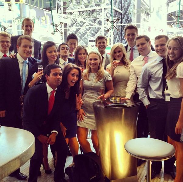 Rokas (<i>top left</i>) at Bank of America Merrill Lynch