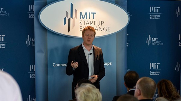 Trond launching the MIT startup exchange.