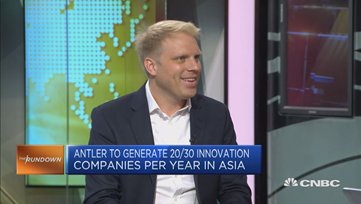 Magnus appearing at CNBC to speak about Antler's impact in Asia.