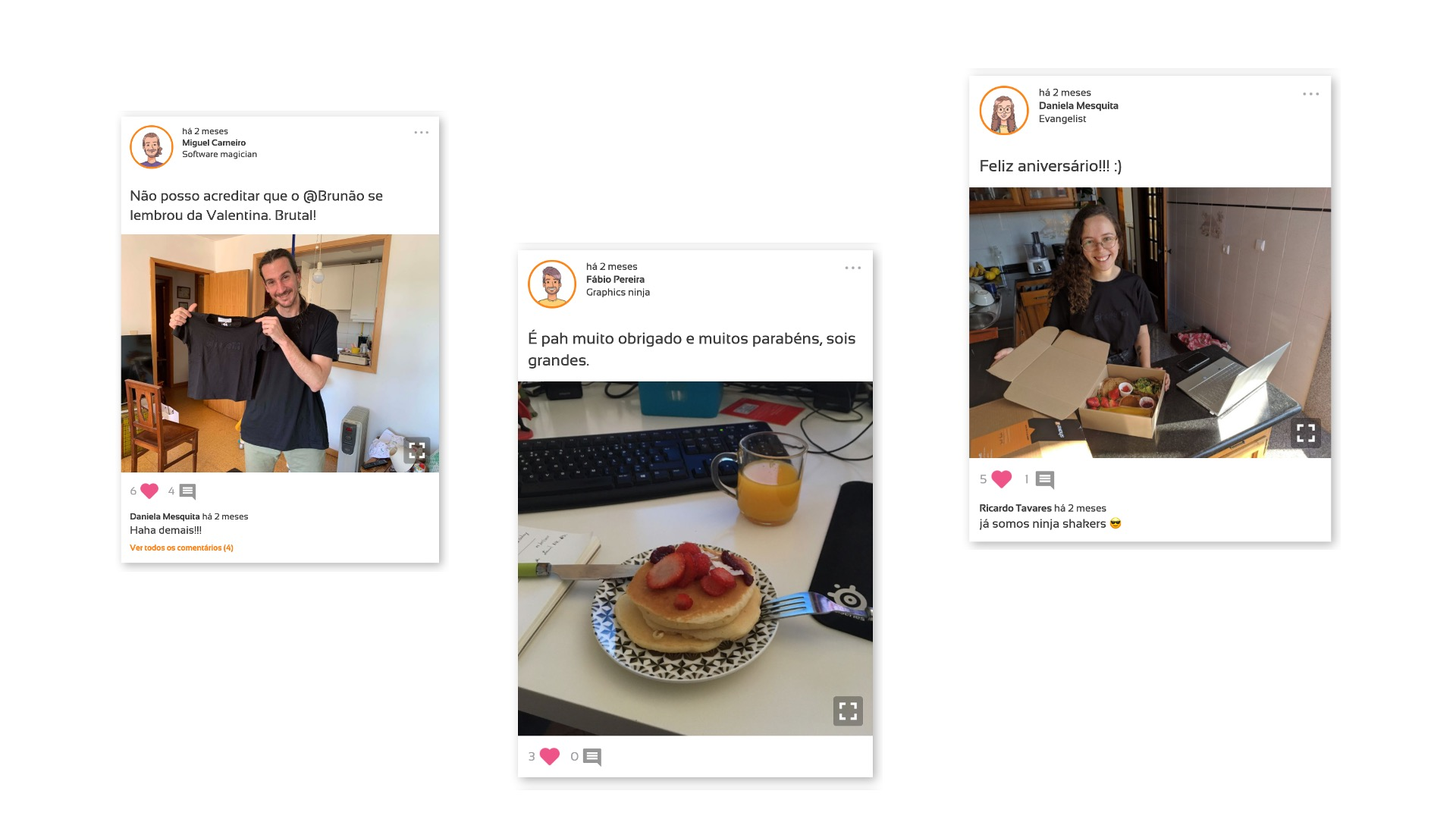 Sharing is caring - People engaged by sharing pictures and videos throughout the day
