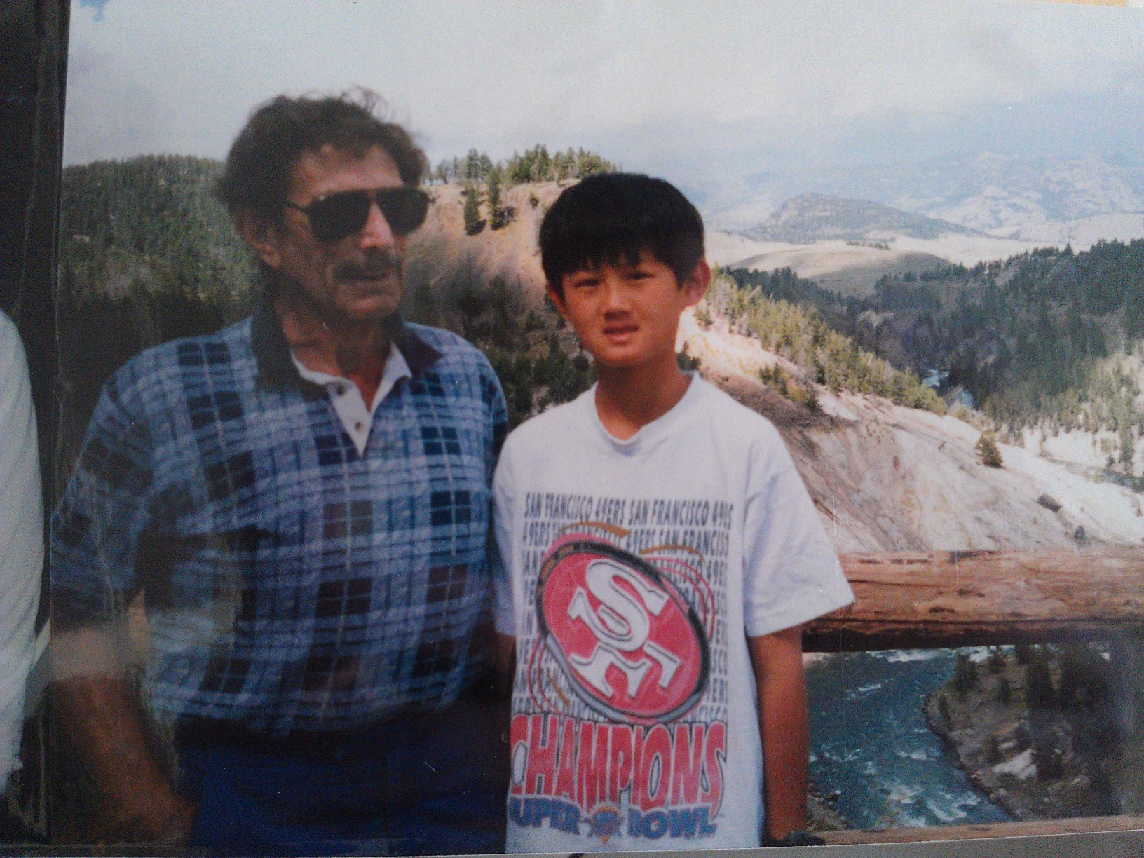 Chou and his dad.