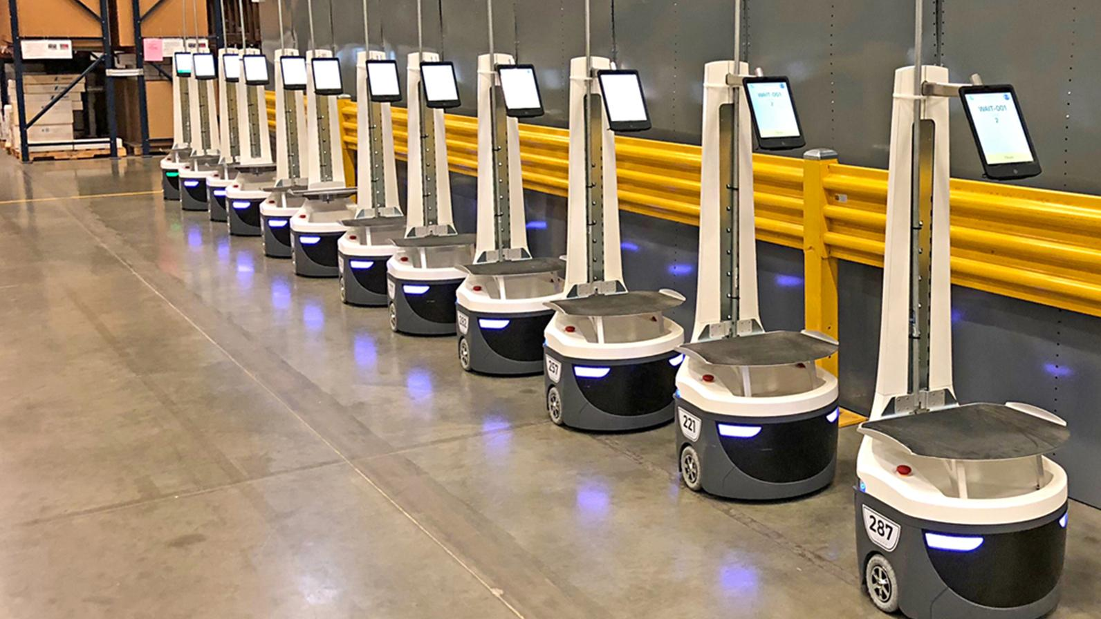 Warehouse robots are changing the world. All these robots are connected to 5G/LTE/Wi-Fi