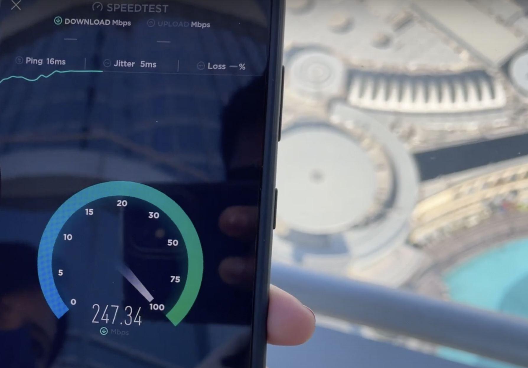 Burj Khalifa Smart Building 5G Indoor System Performance