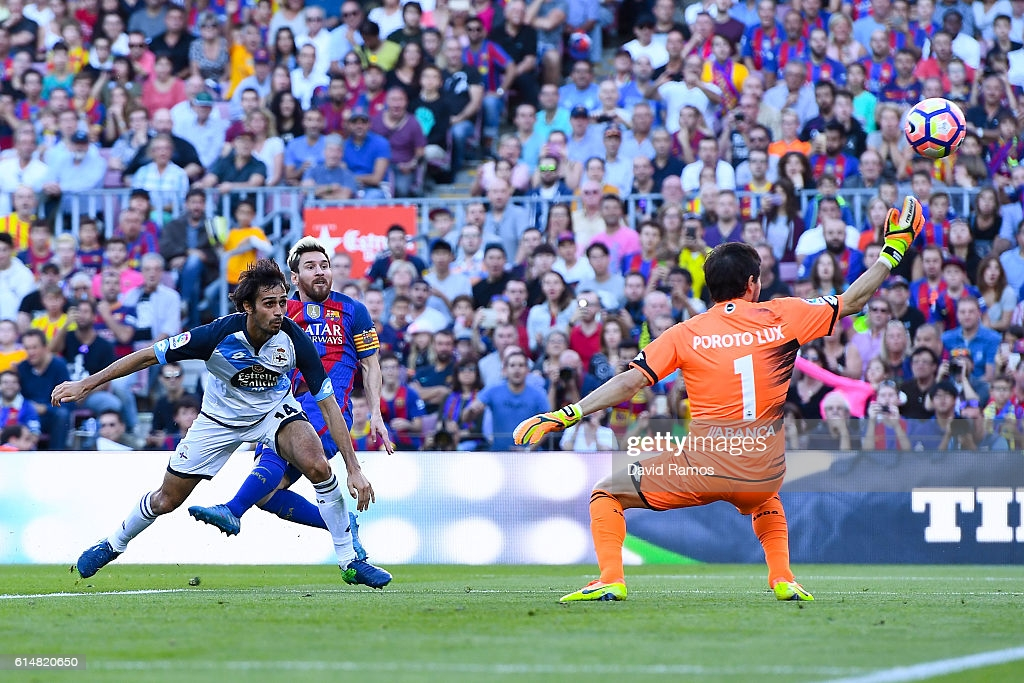 Messi scoring 3 minutes in his return.
