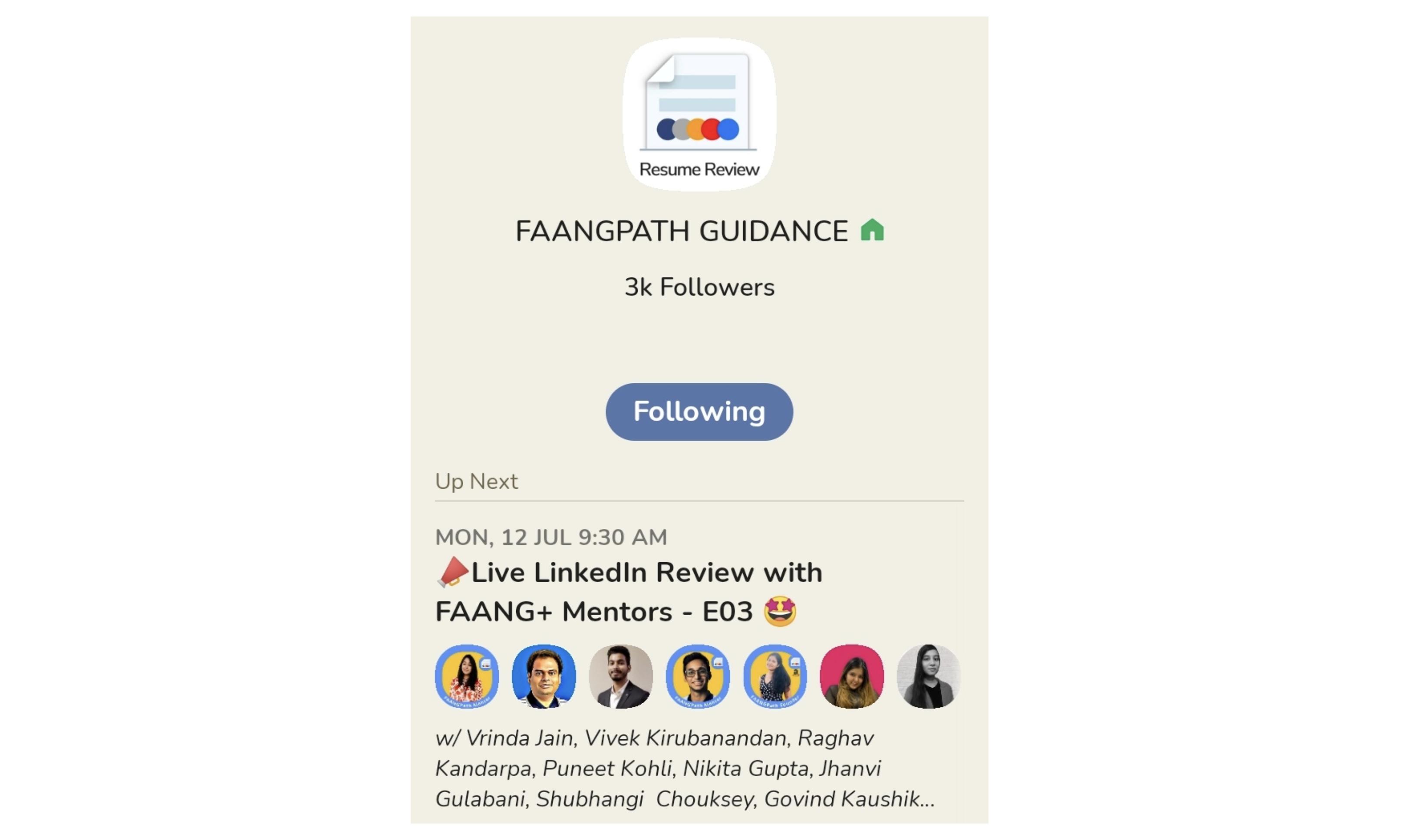 The FAANGPath Guidance Club