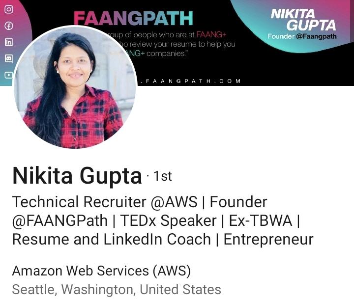 Example headline from our founder Nikita Gupta