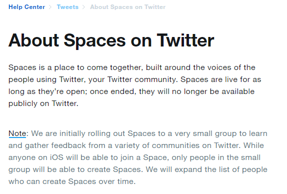 Twitter Spaces...