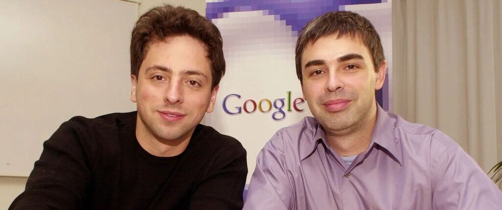 Larry Page and Sergey Brin in the early days of Google