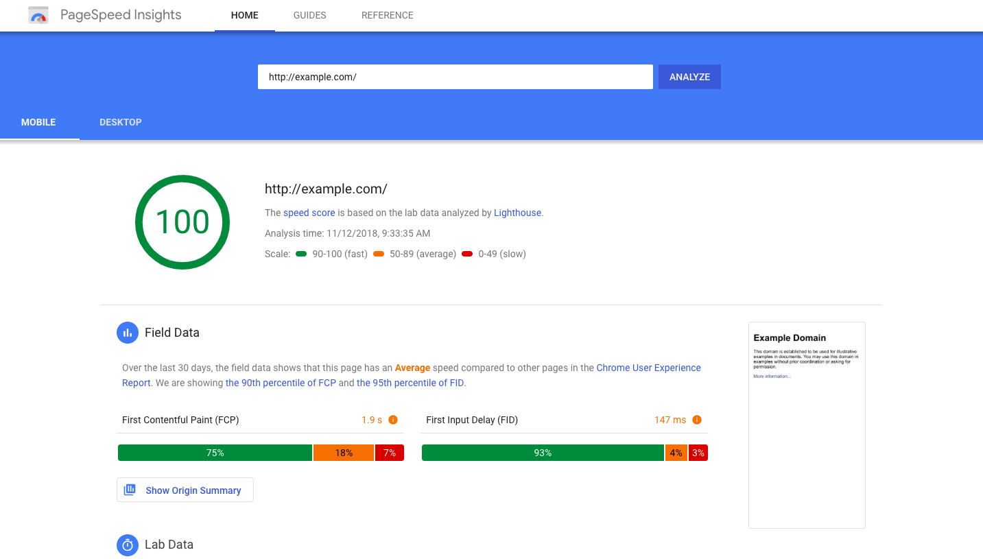 You can check your website speed on Pagespeed Insights by Google